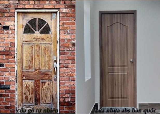 cửa gỗ tự nhiên và cửa nhựa abs sau một thời gian sử dụng